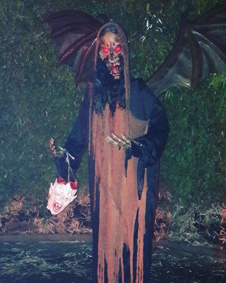 Demon Scare Zone Bamboo Labyrinth Alnwick Garden Spooky Garden Walk Twilight Gardens Halloween